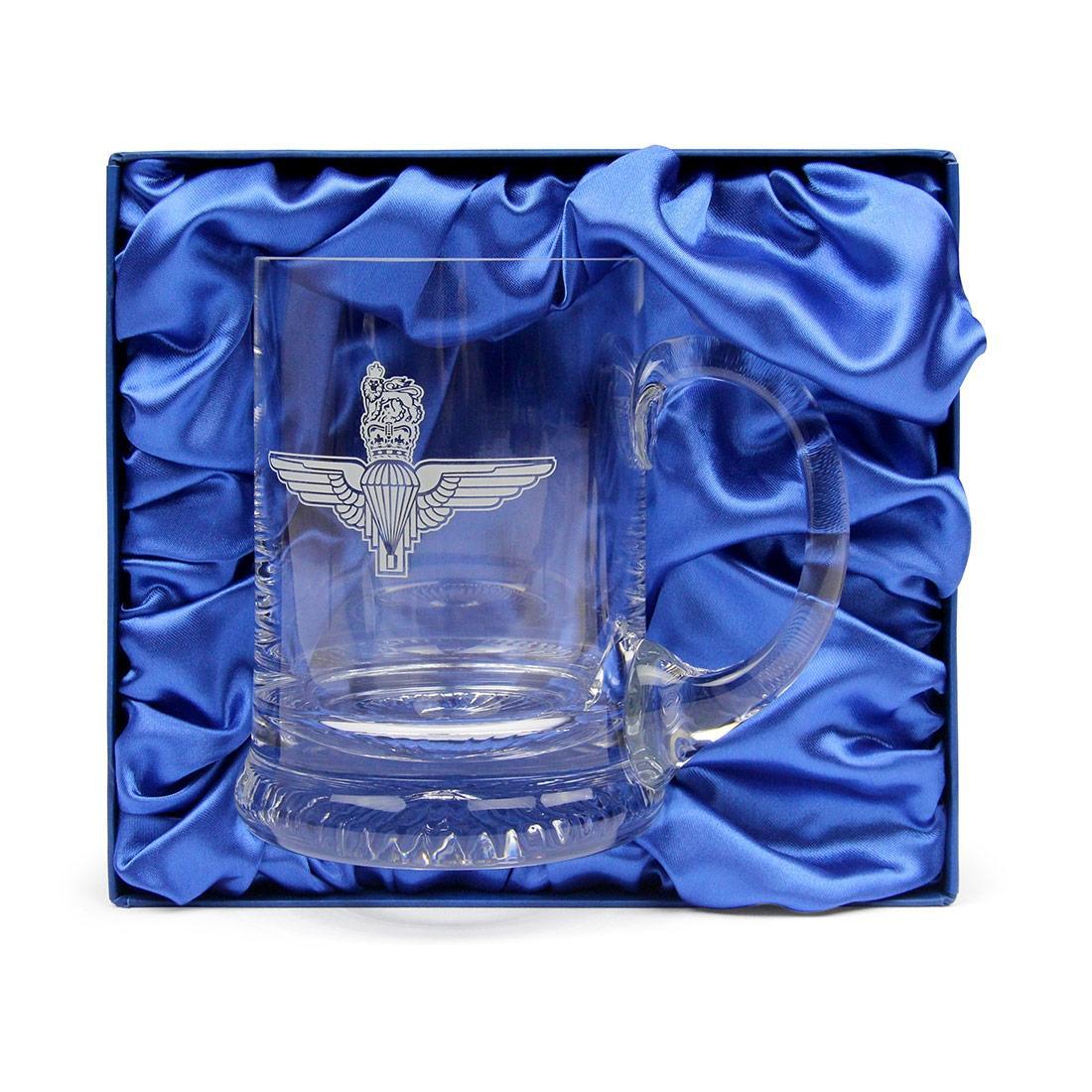 Crystal Beer Mug, Engraved - Parachute Regiment