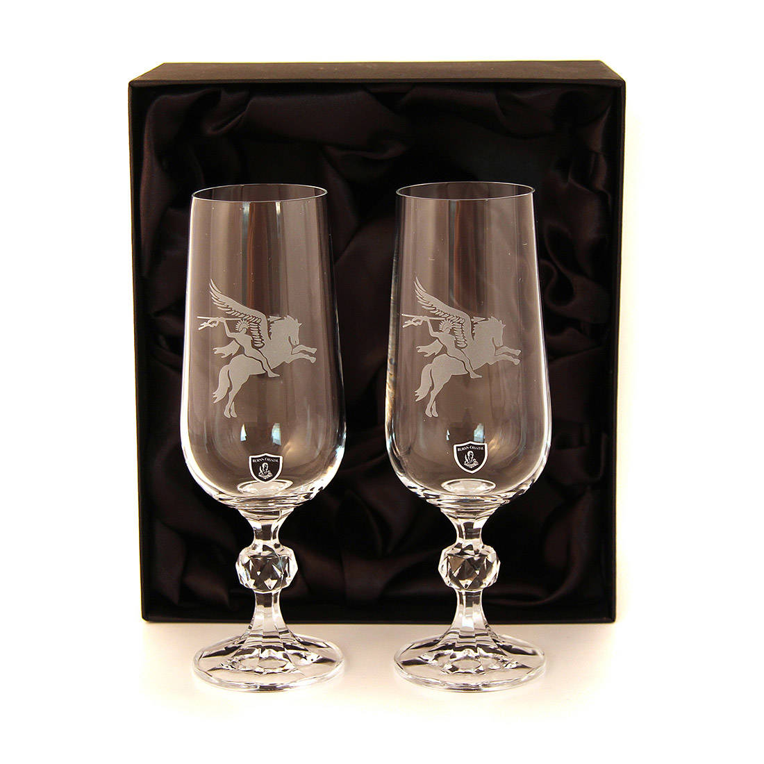 Crystal Champagne Flutes (Pair)