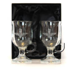 Crystal Coffee Glasses (Pair)