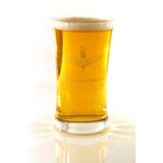 Pint Crystal Beer/Lager Glass Engraved