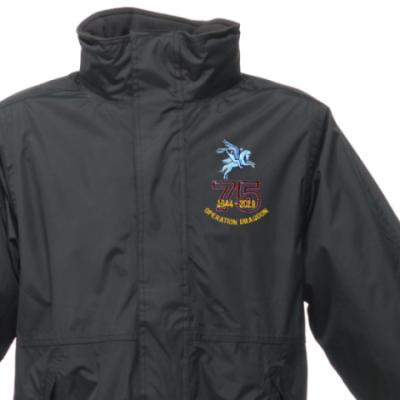 Weatherproof Jacket - Black - Operation Dragoon 75th (Pegasus)