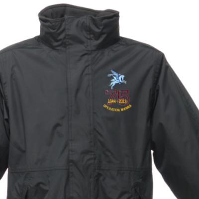 Weatherproof Jacket - Black - Operation Manna 75th (Pegasus)