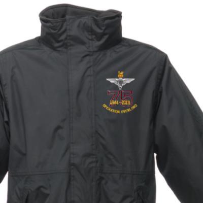 Weatherproof Jacket - Black - Operation Overlord 75th (Para)