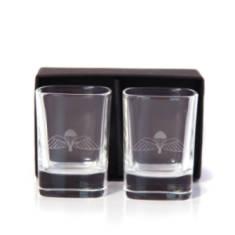 Jump Wings Dram Glasses (Pair) In Gift Box