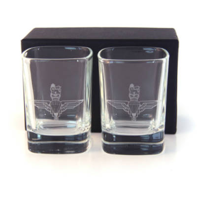 Para Dram Glasses (Pair) In Gift Box