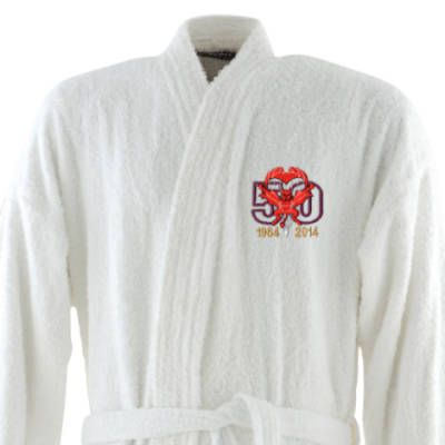 Dressing Gown - White - Red Devils 50th