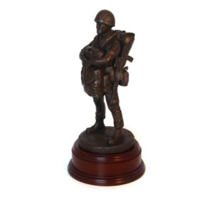 Drop Order 1990 Para Statue - Webbing SA80 Slung (11 Inch, Resin Bronze)