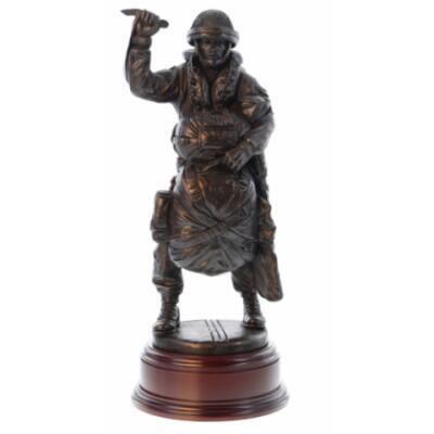 "Drop Order PX4 ""Red On"" Para Statue - Webbing SA80 Slung (Resin Bronze)"