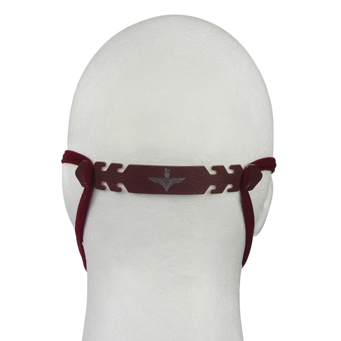 Maroon Ear Saver Extender for Face Coverings/Masks - Para or Pegasus