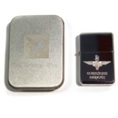 Engraved Lighter In Gift Tin (Para or Pegasus)