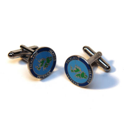 Falklands Island Veteran Cufflinks (Enamel Badge)