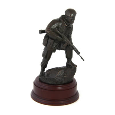 Falklands War Para Era With SLR Statue (11 Inch, Resin Bronze)