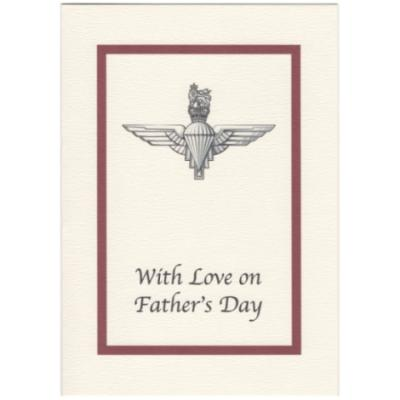 Father's Day Card - Cream with Para Cap Badge