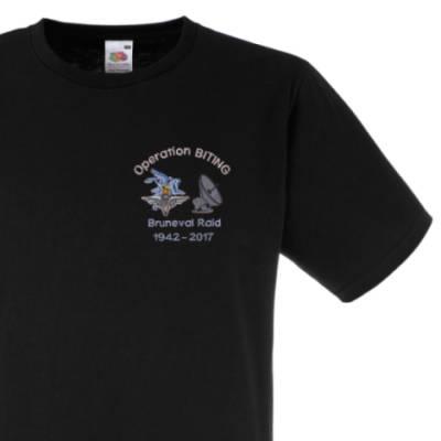 Fitted T-Shirt - Black - Bruneval Raid (Operation Biting) 75th
