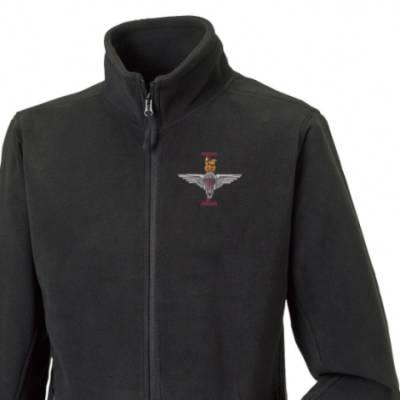 Fleece Jacket - Black - 1 Para (Battalion Numerals)