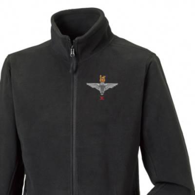 Fleece Jacket - Black - 10 (X) Para Cap-Badge