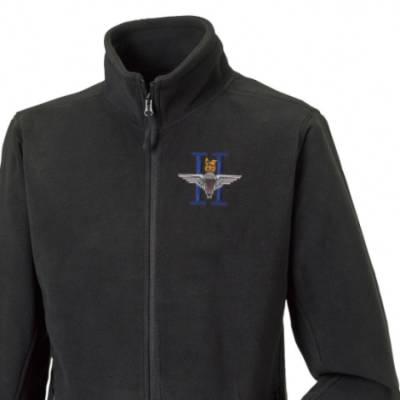Fleece Jacket - Black - 2 Para (Battalion Numerals)