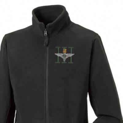 Fleece Jacket - Black - 3 Para (Battalion Numerals)