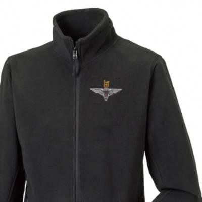 Fleece Jacket - Black - 4 Para (Battalion Numerals)