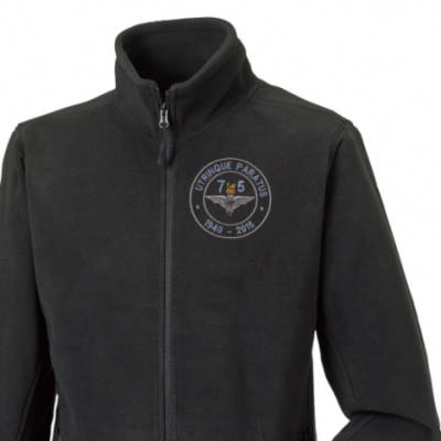 Fleece Jacket - Black - Airborne 75 (Para)