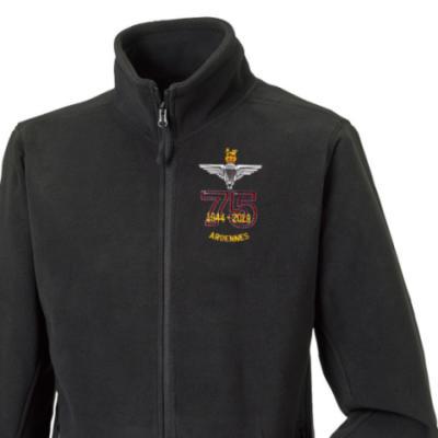 Fleece Jacket - Black - Ardennes 75th (Para)