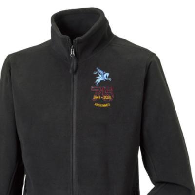 Fleece Jacket - Black - Ardennes 75th (Pegasus)