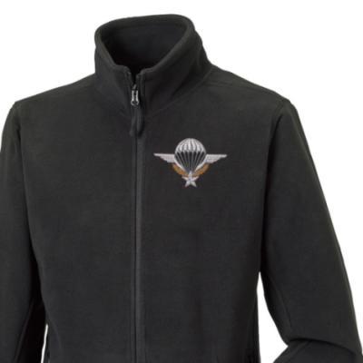 Fleece Jacket - Black - French Para Wings