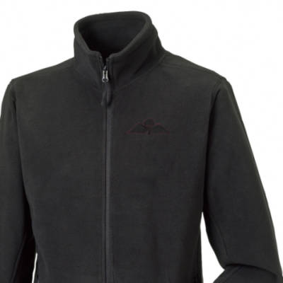 Fleece Jacket - Black - Jump Wings (Black Subdued)