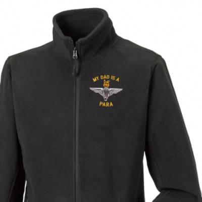 Fleece Jacket - Black - My Dad Is A Para (Para)