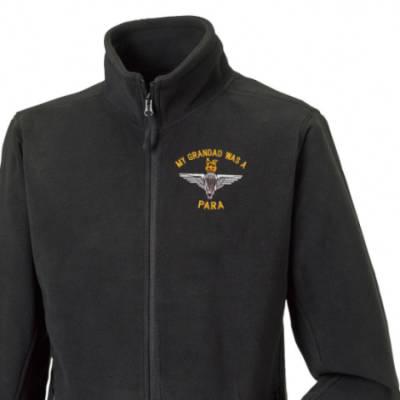 Fleece Jacket - Black - My Grandad Was A Para (Para)