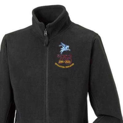 Fleece Jacket - Black - Operation Dragoon 75th (Pegasus)