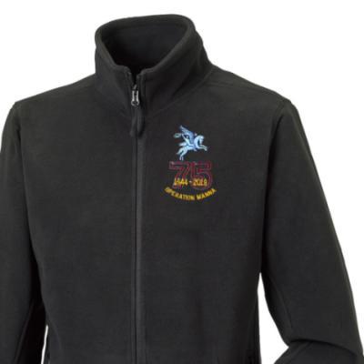 Fleece Jacket - Black - Operation Manna 75th (Pegasus)
