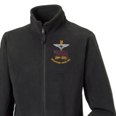 Fleece Jacket - Black - Operation Overlord 75th (Para)