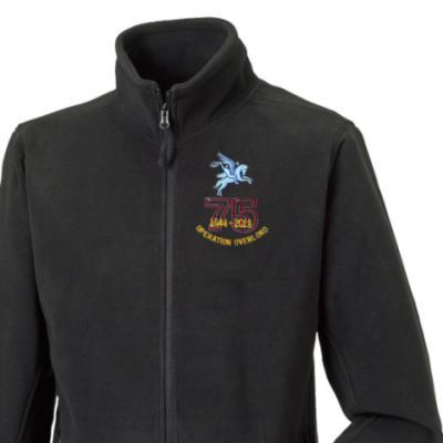 Fleece Jacket - Black - Operation Overlord 75th (Pegasus)