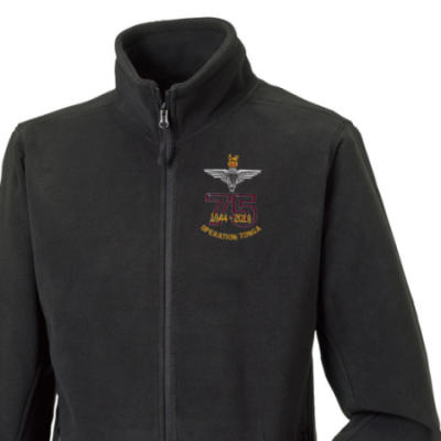 Fleece Jacket - Black - Operation Tonga 75th (Para)