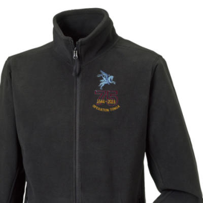 Fleece Jacket - Black - Operation Tonga 75th (Pegasus)