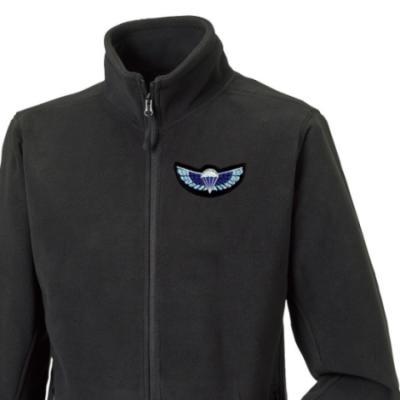 Fleece Jacket - Black - Sabre Wings