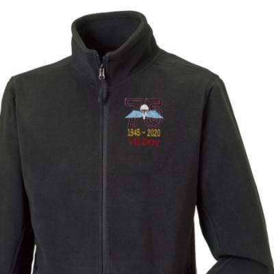 Fleece Jacket - Black - VE Day 75th (Jump Wings)