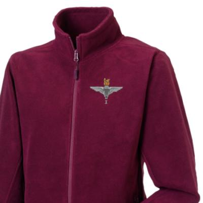 *CLEARANCE* Fleece Jacket, XL, Maroon, 1 Para Cap-Badge, Para Back Embroidery