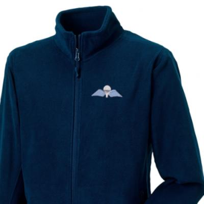 *CLEARANCE* Fleece Jacket, XL, Navy, Jump Wings
