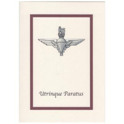 Greetings Cards - Parachute Regiment with Maroon Border