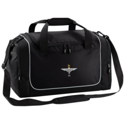Gym Bag - Black - 3 Para Cap-Badge (Print)