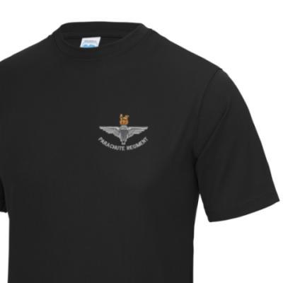 *CLEARANCE* Gym/Training T-Shirt, XL, Black, Para Cap-Badge