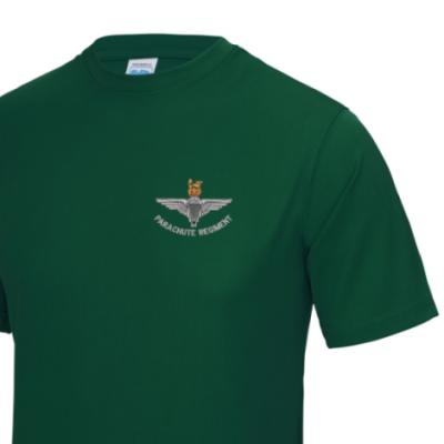 *CLEARANCE* Gym/Training T-Shirt, Large, Green, Para Cap-Badge