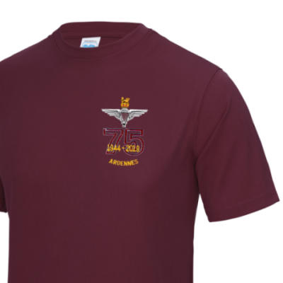Gym/Training T-Shirt - Maroon - Ardennes 75th (Para)