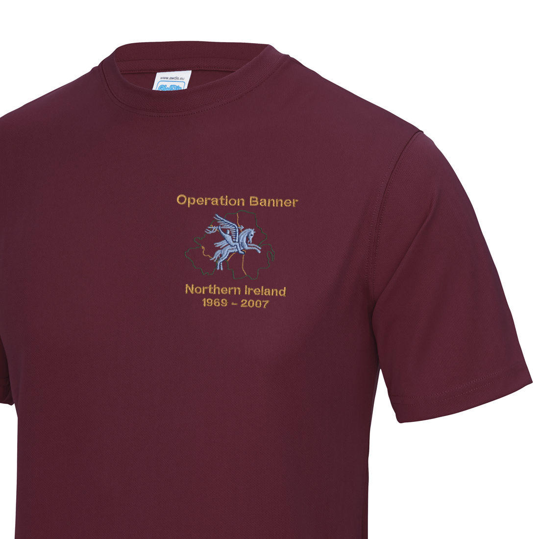 Gym/Training T-Shirt - Maroon - Operation Banner (Pegasus)