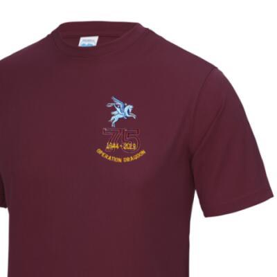Gym/Training T-Shirt - Maroon - Operation Dragoon 75th (Pegasus)