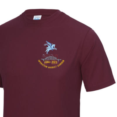 Gym/Training T-Shirt - Maroon - Operation Market Garden 75th (Pegasus)