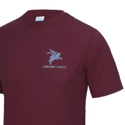 *CLEARANCE* Gym/Training T-Shirt, Large, Maroon, Pegasus Airborne Forces