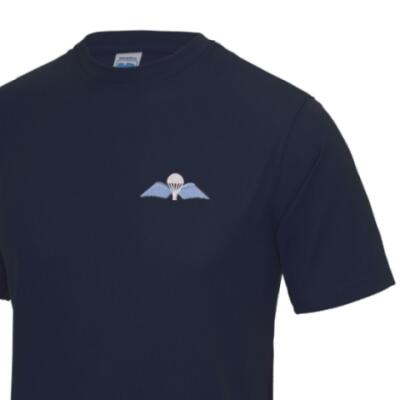 *CLEARANCE* Gym/Training T-Shirt, XL, Navy, Jump Wings
